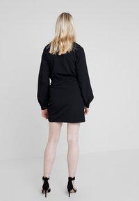 Nly by Nelly - WRAP ON DRESS - Robe d'été - black - 3