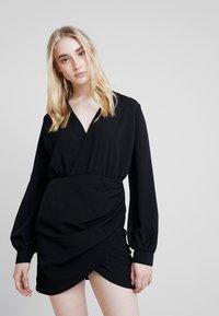 Nly by Nelly - WRAP ON DRESS - Robe d'été - black - 0