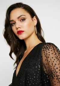 Nly by Nelly - RITZY GLITTER SKATER DRESS - Cocktailklänning - black - 4