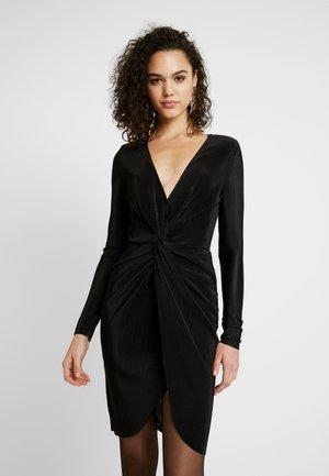 TWISTED PLEATED DRESS - Sukienka koktajlowa - black