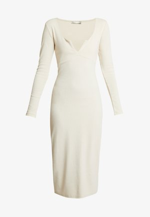 MIDI DRESS - Vestito di maglina - creme