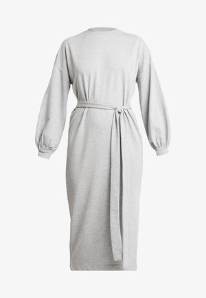 SLIT DRESS - Jerseykjole - grey mélange