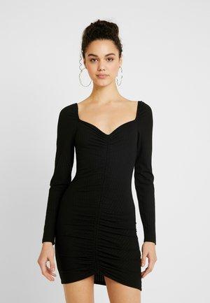 ROUCHED DRESS - Etuikjole - black