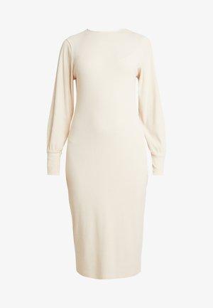 COZY DRESS - Etui-jurk - beige