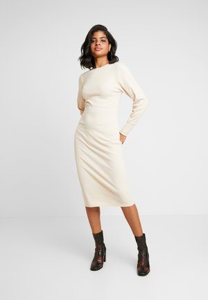 COZY DRESS - Shift dress - beige
