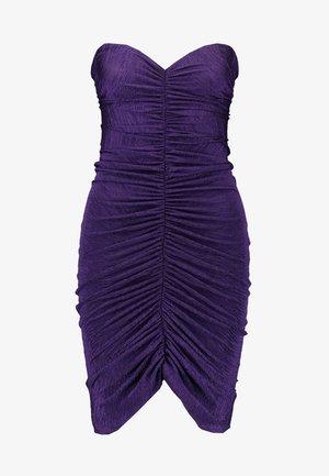 RUCHED TUBE DRESS - Kotelomekko - purple