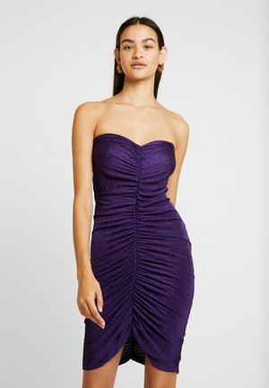 RUCHED TUBE DRESS - Etui-jurk - purple