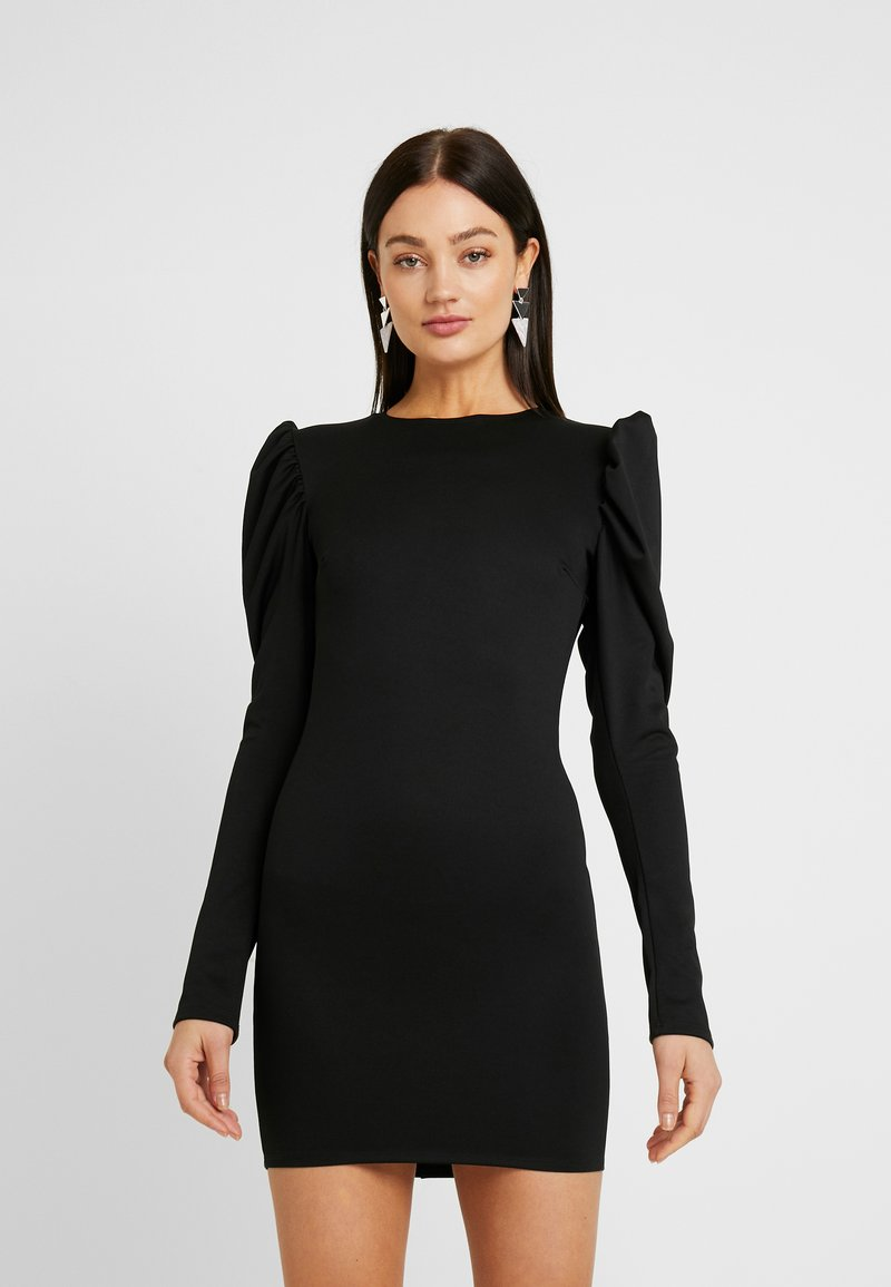 Nly by Nelly - OPEN BACK PUFF DRESS - Cocktailkjole - black