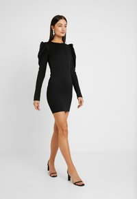 Nly by Nelly - OPEN BACK PUFF DRESS - Cocktailkjole - black - 2