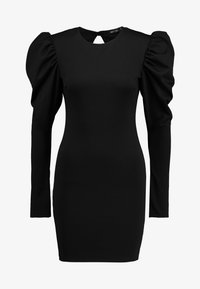 Nly by Nelly - OPEN BACK PUFF DRESS - Cocktailkjole - black - 4