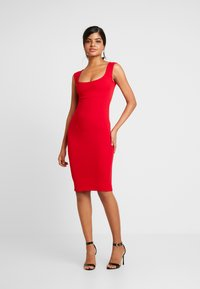 Nly by Nelly - PUSH UP NECKLINE DRESS - Tubino - red - 2