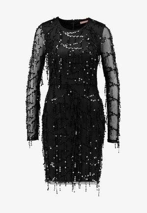FRINGE BODYCON DRESS - Cocktail dress / Party dress - black