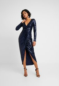 Nly by Nelly - SEQUIN WRAP GOWN - Ballkjole - navy - 1