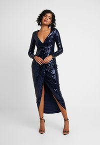 Nly by Nelly - SEQUIN WRAP GOWN - Ballkjole - navy - 0