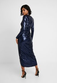 Nly by Nelly - SEQUIN WRAP GOWN - Ballkjole - navy - 2
