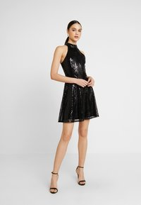 Nly by Nelly - SEQUIN SKATER DRESS - Cocktailkjole - black - 2