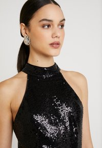Nly by Nelly - SEQUIN SKATER DRESS - Cocktailkjole - black - 5
