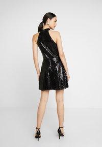 Nly by Nelly - SEQUIN SKATER DRESS - Sukienka koktajlowa - black - 3