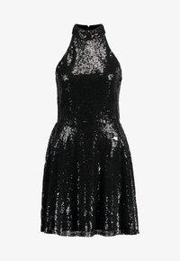 Nly by Nelly - SEQUIN SKATER DRESS - Sukienka koktajlowa - black - 4