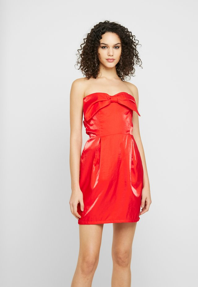BOW DETAIL MINI DRESS - Cocktail dress / Party dress - red