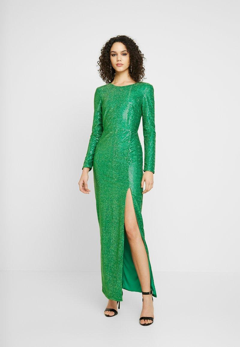 Nly by Nelly - SPARKLING SLIT GOWN - Společenské šaty - green