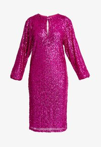 Nly by Nelly - BOLD SLEEVE SEQUIN DRESS - Cocktail dress / Party dress - fuchsia - 3