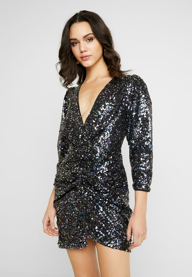 MULTI SEQUIN DRESS - Cocktail dress / Party dress - blue
