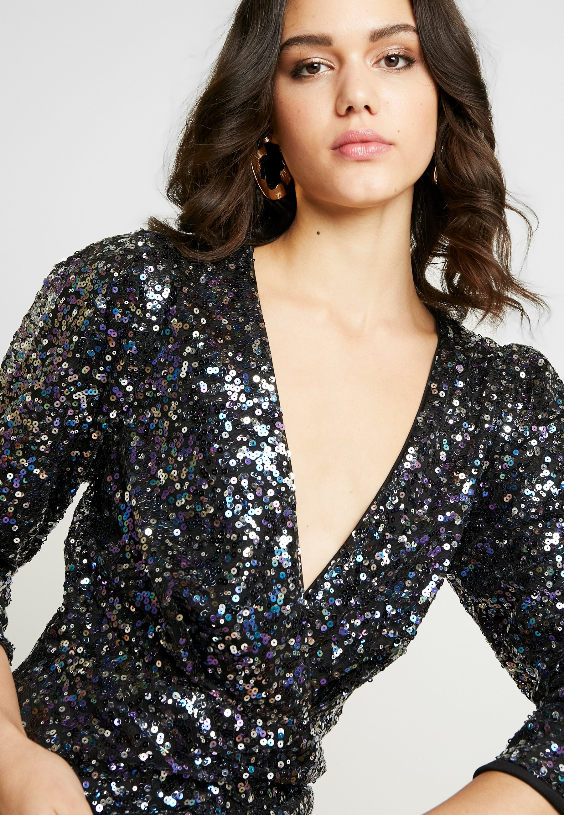 Nly By Nelly Multi Sequin Dress - Cocktail / Party Blue