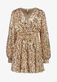 Nly by Nelly - PUFFY SLEEVE SEQUIN DRESS - Vestito elegante - gold - 3