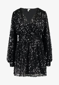 Nly by Nelly - PUFFY SLEEVE SEQUIN DRESS - Vestito elegante - black - 3