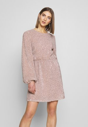 BALLOON SLEEVE DRESS - Cocktailklänning - lt pink