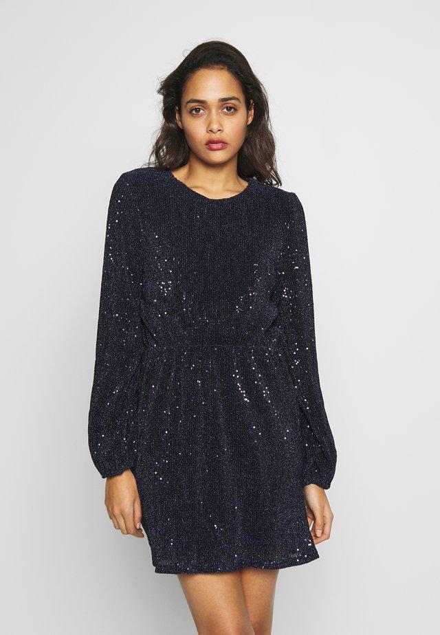 BALLOON SLEEVE DRESS - Koktejlové šaty/ šaty na párty - blue
