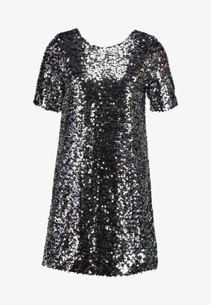 SEQUIN SHIFT DRESS - Cocktailkjole - silver