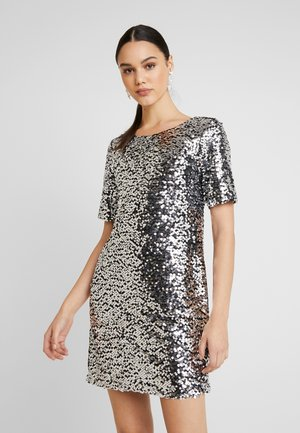 SEQUIN SHIFT DRESS - Vestito elegante - silver