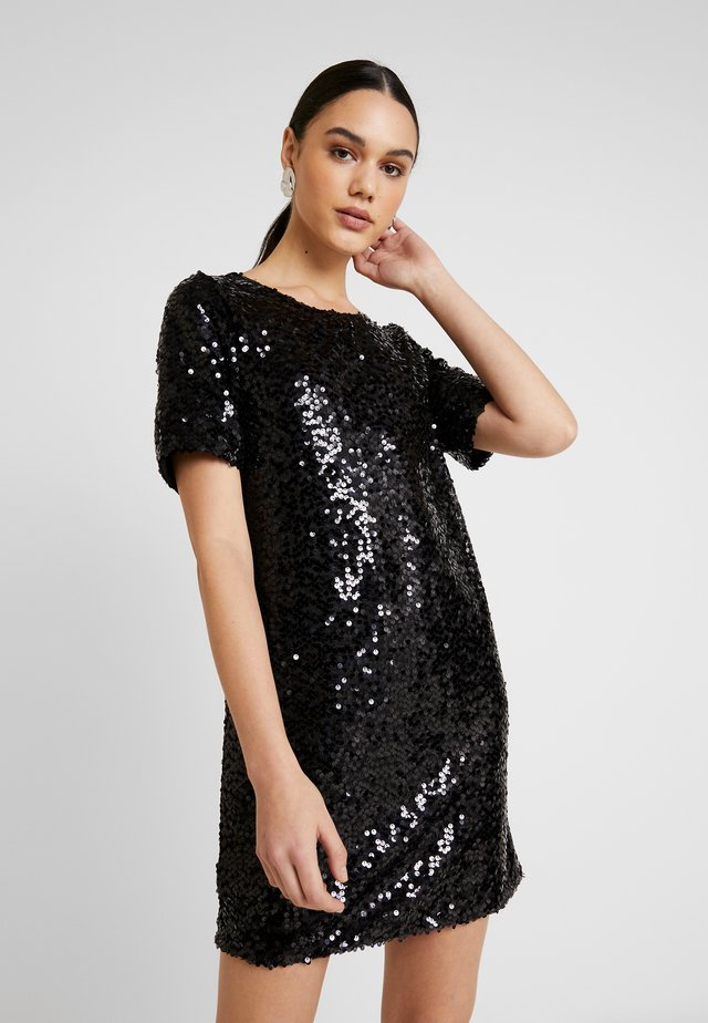 SEQUIN SHIFT DRESS - Cocktail dress / Party dress - black