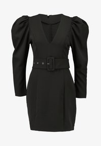 Nly by Nelly - BELTED PUFF DRESS - Cocktailkjole - black - 4