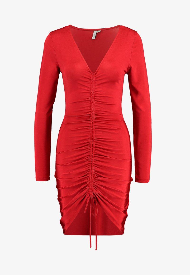 drawstring slinky dress - cocktailkleid/festliches kleid - red