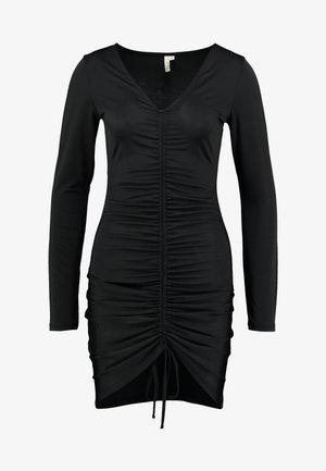 DRAWSTRING SLINKY DRESS - Cocktailkjole - black