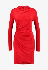 Nly by Nelly - DRAPE NECK DRESS - Sukienka koktajlowa - red - 4