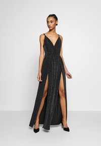 Nly by Nelly - GLITTER DOUBLE SLIT DRESS - Robe de cocktail - black - 1