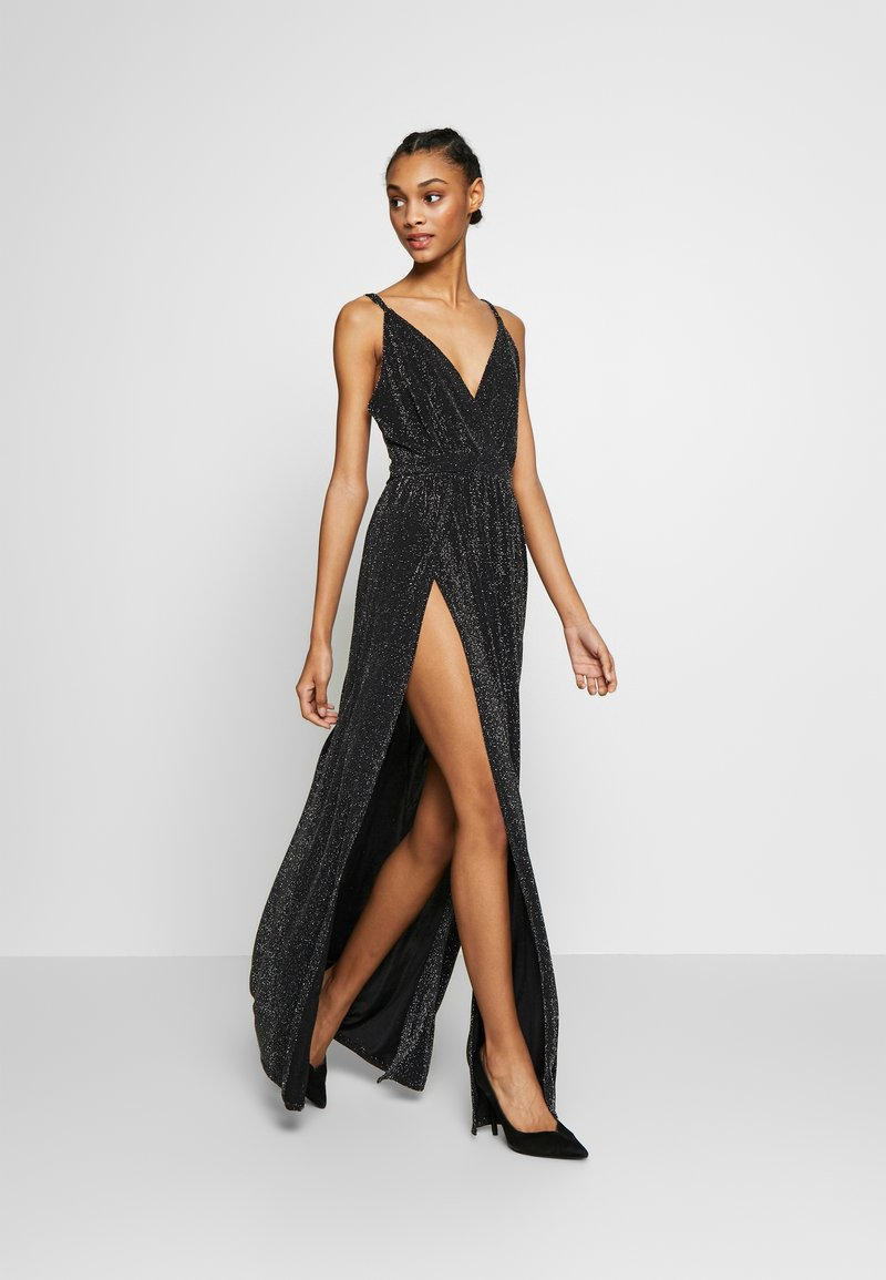 Nly by Nelly - GLITTER DOUBLE SLIT DRESS - Robe de cocktail - black