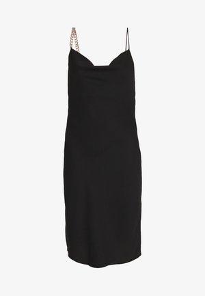 CHAIN STRAP DRESS - Cocktailkjole - black