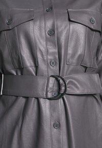 Nly by Nelly - OVERSIZE DRESS - Shirt dress - grey - 5