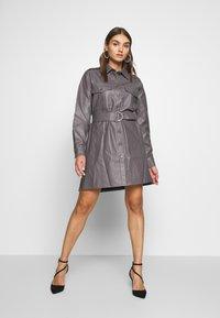 Nly by Nelly - OVERSIZE DRESS - Shirt dress - grey - 1