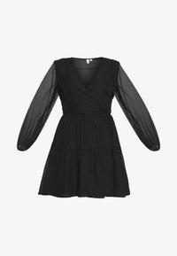 Nly by Nelly - FIERCE WRAP DRESS - Vestido informal - black - 4