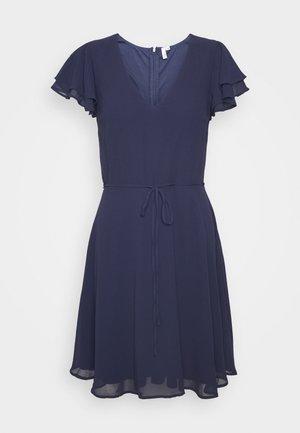 DOUBLE FLOUNCE SLEEVE DRESS - Vestito elegante - navy