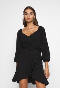 Nly by Nelly - LOVLEY FRILL DRESS - Vestito elegante - black - 0