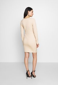 Nly by Nelly - LONG SLEEVE WRAP DRESS - Etui-jurk - beige - 2