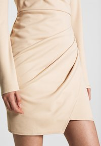 Nly by Nelly - LONG SLEEVE WRAP DRESS - Etui-jurk - beige - 5