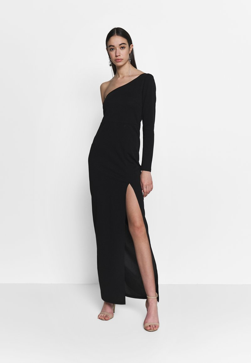 Nly by Nelly - IRRESISTIBLE ONE SHOULDER GOWN - Abito da sera - black